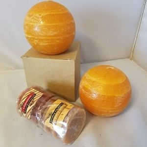 Other - Pair of 2 Pumpkin Bread Scented Candle Balls